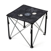 Lucky Bums Camp Table Folding Lightweight Compact Durable with Cup Holders and Carrying Bag, Kryptek Typhon.