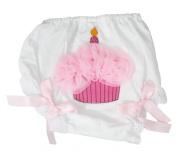Light Pink Birthday Cupcake Bloomer White Lace Panty Baby Clothing 6-24m