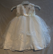 Beautiful Special Occasion Dress Christening Nameing Day Wedding Butterfly design