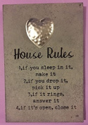 shabby chic house rules plaque