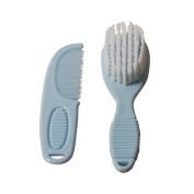 Baby Brush and Comb Set Soft Touch 3 Colours Pink White Blue
