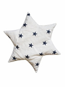 Linden 36156 Cherry Pit Pillow Star Design (Capri, Stars White