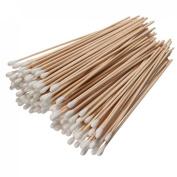 Ungfu Mall 200Pcs Long Wood Handle Cotton Swab Applicator Medical Swabs