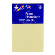 Junior Joy 6030LE Pram Flannelette Sheets Lemon