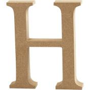 Letter, H: 8 cm, MDF, H, 1pc