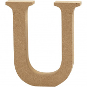 Letter, H: 8 cm, MDF, U, 1pc