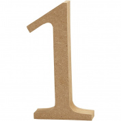 Number, H: 8 cm, MDF, 1, 1pc