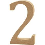 Number, H: 8 cm, MDF, 2, 1pc