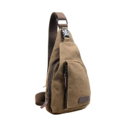 Yuson girl - Men's Small Canvas Military Messenger Bag Shoulder Chest Bag Travel Hiking Bag Backpack