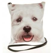 Westie, West Highland Terrier Dog Face Crossbody/Shoulder Bag