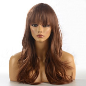 Namecute Ginger Hair Long Natural Wig Curly Wavy Hairstyle 70cm for Party