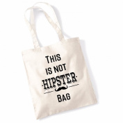 "Women's Gift Idea 100% Cotton ""This Is Not A Hipster"" Funny Beach Printed Tote Bag Canvas"