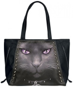 Spiral Black Cat Handbag black