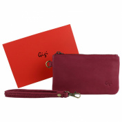 Ladies Soft LEATHER Wrist BAG Handbag by GiGi Stylish Handy Coin Purse Pouch