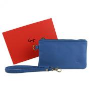 Ladies Soft LEATHER Wrist BAG Handbag by GiGi Stylish Handy Coin Purse Pouch