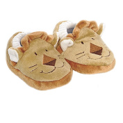 Babysutten Crawling Shoes with Lion Design, Brown, from 6 Months