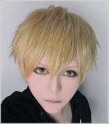 LanTing ONE PUNCH-MAN Genos Flax gold Cosplay Party Fashion Anime Wig