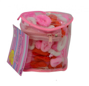 PINK - 100 x CHILDRENS HAIR BANDS - stretchy girls bobbles.