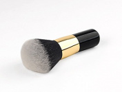Neverland Large Round Head Buffer Foundation Blush Powder Makeup Brushes Black