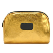 Zarapack Gold Waterproof Women Make up Cosmetic Bag Toiletry Bag Handbag Travel Organiser