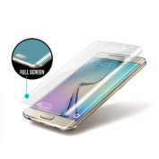 Galaxy S6 edge tempered glass screen protector - By New Horrizon For for Samsung Galaxy S6 Edge Tempered Glass - High Definition - Full 100% Edge to Edge Coverage - Clear