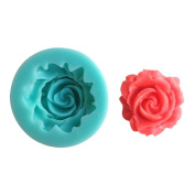 LYNCH Rose Shape Silicone Mould Candy Chocolate Mould For Baking,Pink