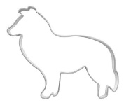 Collie Dog Cookie Cutter, 8.5 CM Tin Plate