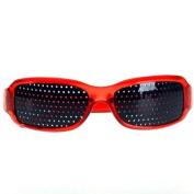 Pinhole Glasses for Eyesight Strengthening - Red