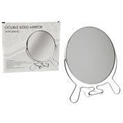 13cm Chromed 2 Sided Round Shaving Mirror