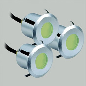 LED recessed downlight spot Rumy around green Ø5.9cm 3er Set with transformer and cable