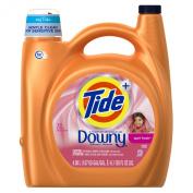 Tide HE Turbo Clean Plus Downy April Fresh Scent Liquid Laundry Detergent, 72 Load bottle
