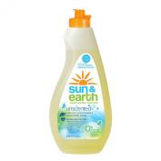 Sun & Earth Natural Liquid Dish Soap, Unscented, 650ml