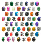 TOAOB Women's Colourful European Spacer Beads For Snake Chain Charm Pack of 10pcs