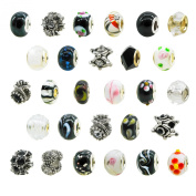 TOAOB Women's European Spacer Beads For Snake Chain Charm Pack of 10pcs