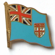 Fiji National Flag Gold Plated Courtesy Enamel Lapel Pin Badge