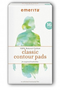 Emerita Natural Cotton Classic Contour Pads, 16 Ct