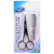 Premier Value Moustache Scissors & Comb - 1ct