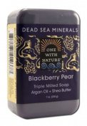 One With Nature Dead Sea Minerals Bar Soap Blackberry Pear 210ml