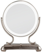 Zadro Makeup & Vanity Mirrors 41cm . L x 32cm . W Surround Light Vanity Mirror in Polished Nickel GLA75