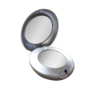 Tweezerman LED Lighted 10x/1x Compact Mirror Model No. 6792-R