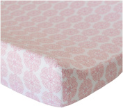 Oliver B Pink Petals Cotton Changing Pad Cover