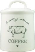 David Mason Design Country Retreat Coffee Canister, White