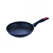 BERGNER RED STONE - FRYING PANS FORGED aluminium MARBLE COATING 26X5.0 CM SUITABLE FOR INDUCTION