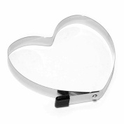Dealglad® Stainless Steel Heart Pancake Mould Cooking Fried Egg Ring Shaper Mould Kitchen Tool