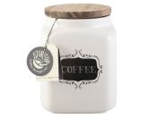 Creative Bake Stir It Up Stoneware Coffee Canister With Acaia Wood Lid