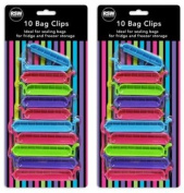 Bag Clips Pack Of 20 Sealing Bags Fridge Freezer Handy Easy Storage Kitchen