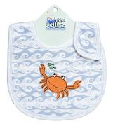 Under The Nile Unisex-Baby Infant Print Wave Bib