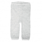 Baby Bella Maya Lacy Leggings, White, 4T