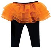 Stephan Baby 616034 Black Leggings With Orange Tutu, 6-12 Months