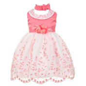 Baby Girls Bubble Gum White Floral Jewelled Easter Flower Girl Bubble Dress 24M